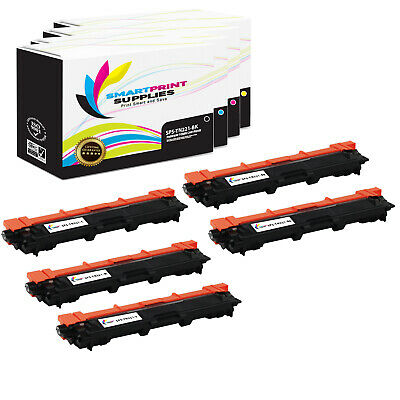 5Pk SPS TN221 Compatible Brother MFC-9130cw 9340cdw 9330cdw HL-3140cw Toner