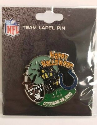 Indianapolis Colts VS Oakland Raiders 10/28/18 GAME DAY PIN BRAND NEW NFL PIN