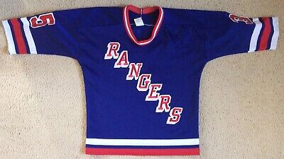 #35 Mike Richter New York Rangers Ice Hockey Jersey CCM Canada Size XL
