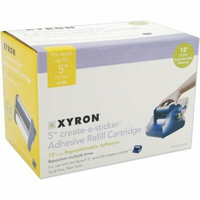 """Xyron  500 Refill Cartridge, 5"""" x 18 Ft Repositionable-makes stickers up to 5"""""""