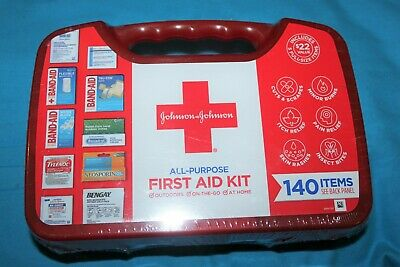 NEW Johnson and Johnson All-Purpose First Aid Kit 140 Pieces