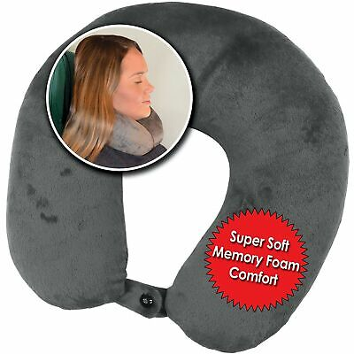 My Perfect Dreams Premium Travel Pillow (Grey), Sleep with NO Neck Pain, Supe...