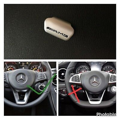 AMG steering wheel emblem decal sticker badge decoration logo for Mercedes-Benz