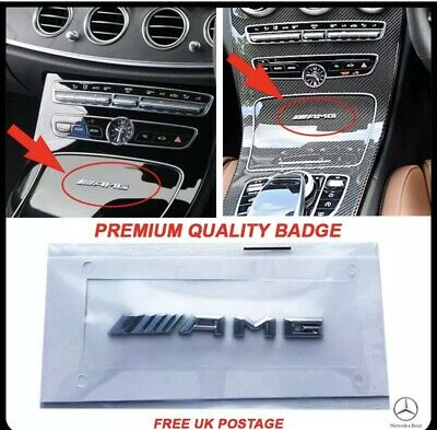 New Small Mercedes AMG Badge Cockpit Centre Console Dashboard Interior C E A S