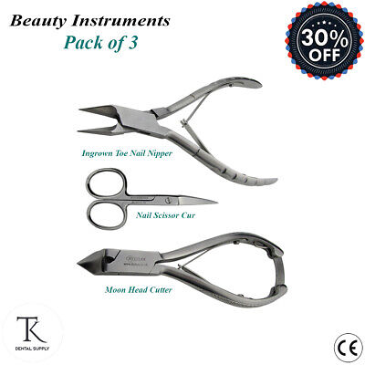 Set Of 3 Professional Chiropody Podiatry Ingrown Toe Nail Cutter Nail Scissor CE