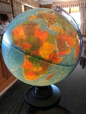 Working National Geographic Light Up 30Cm Diam Table Top World Globe