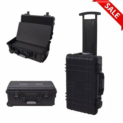 Waterproof Wheel Equipment Case Hard Photography Tool Carry Case Pick Pluck Foam