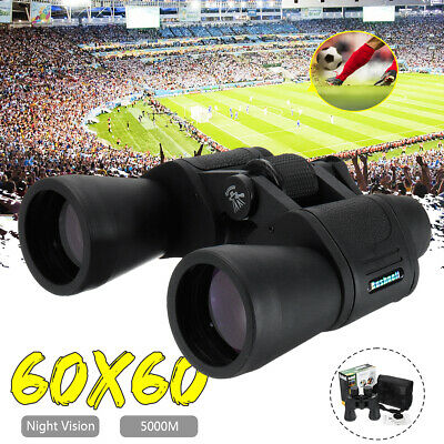 5000M Day/Night Zoom HD 60x60 Telescope Travel Binoculars Hunt +Case Sightseeing
