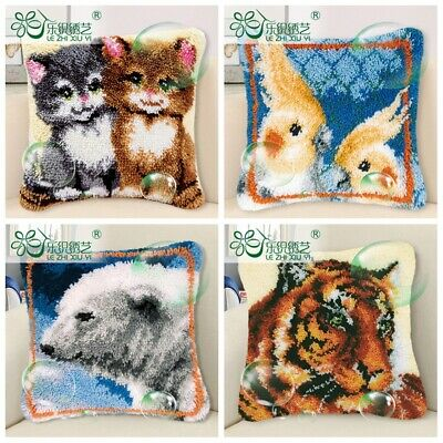 Animals Cushion Cover Making kits Latch Hook Rug For Beginners Adults Embroidery
