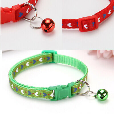 Rainbow Dog Cat Collar Pet Puppy Kitten Adjustable Harness Neck Strap with Bell