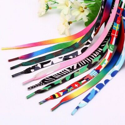 Shoelaces Colorful Coloured ( Flat ) Bootlace Sneakers Shoes Boots Laces Strings
