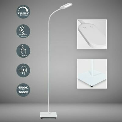 Led Steh Lampe Dimmbar 8w Stand Leuchte Leselampe Wohnzimmer Touch Deckenfluter
