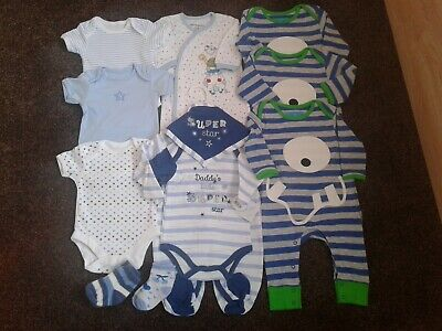 Bundle of baby boys clothes size 0-3 months New