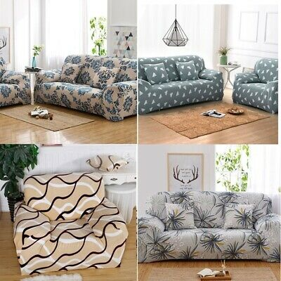 1 2 3 4 Seater Universal Stretch Sofa Covers Protector Couch Cover Slipcover USA