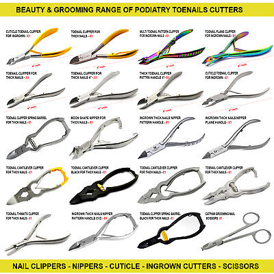 Chiropodists Heavy Duty Thick Toenail Clippers Ingrown Nippers Cutters Manicure