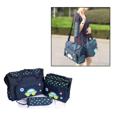4pcs Mummy Maternity Baby Nappy Diaper Changing Bag Set Wipe Clean Bag