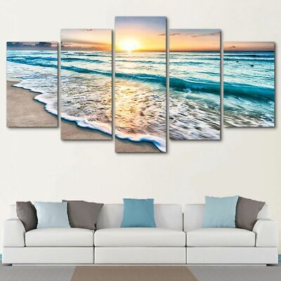Wall Art Posters Modern Home Decor 5 Beautiful Natural Landscape Painting Photos