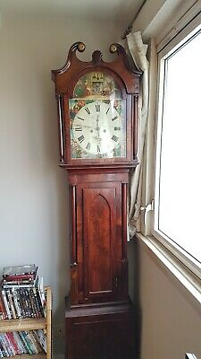 Mahogany antique longcase grandfather clock circa 1840