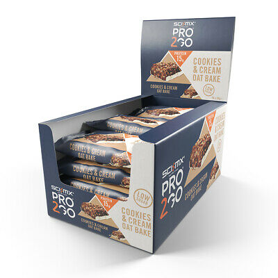 Sci-Mx Pro 2Go Oat Bake Box 50G X 24 Cookies & Cream - Bb 03/2020