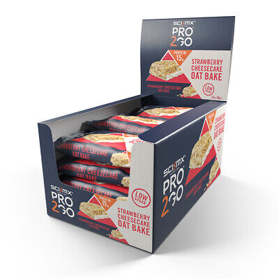 Sci-Mx Pro 2Go Oat Bake Box 50G X 24 Strawberry Cheesecake - Bb 03/2020