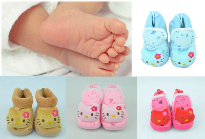 Baby Boy Girl Newborn Soft Sole Pram Booties Toddler Pre-Walker Trainers Shoes