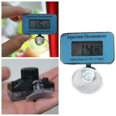 Blue Digital LCD Aquarium Fish Temperature Tank Waterproof Thermometer Mete T0H8