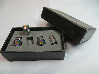 Premium Quality Stainless Steel Dust Caps With An Alfa Romeo Logo