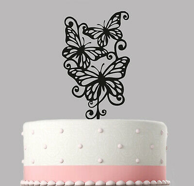 Butterfly Wedding Cake Topper Decoration Acrylic.161