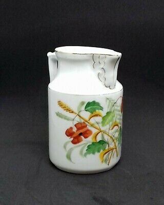 Vintage - Hand Painted - Porcelain / China Jug - Poppy & Wheat - 12 cm 4.7 inch