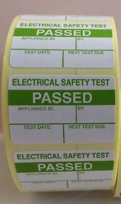 PAT Test Labels x 1000 Passed Stickers Electrical FREE P+P