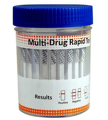 UK Drug Testing Kit ULTRA Collection Cup Integrated 8 in 1 Home Work Test