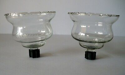 Home Interiors Clear Etched Wheat Short Votive Cup w// rubber grommet
