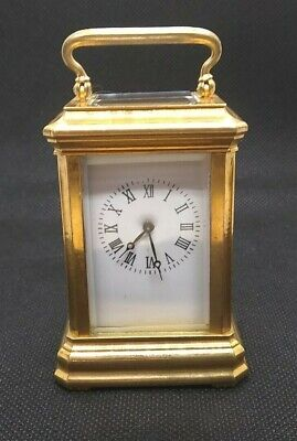20th Century  Miniature Brass Carriage Clock