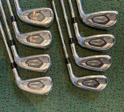 LEFT HANDED- TITLEIST AP3 718 IRONS (4-PW,GW) AMT Red Steel STIFF (+