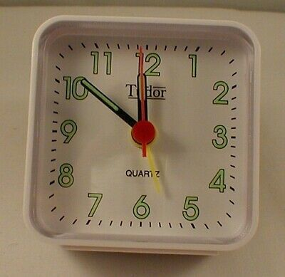 Tudor Alarm Clock Suitable For Bedside Or Travel - White  Color