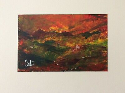 `Snowdonia` Original Signed Painting in W/colour/Acrylic.