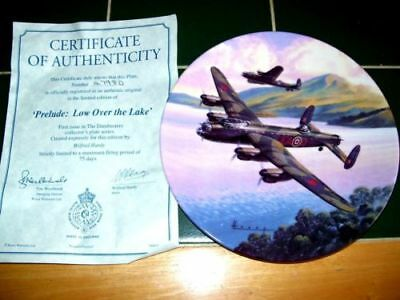 Royal Worcester Dam Busters 1St Issue Plate Prelude Over The Lake With Certifica