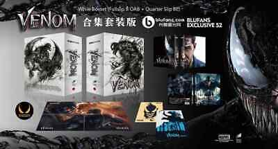 Blufans Marvel Venom 4K bluray WEA OAB steelbooks White Collectors Box Preorder