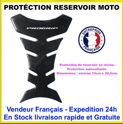 Protection Reservoir Moto Gel Effet Carbone Stickers Protege Rayure Progrip