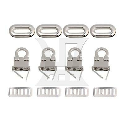 4pcs Small Silver Tuck Lock Closure Catch Clasp Buckle Purse Fasteners