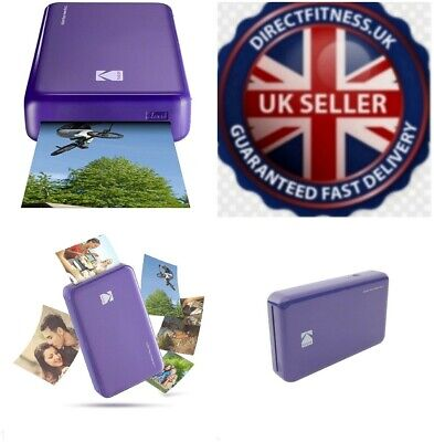 "Kodak Mini Instant Photo Printer Prints 2x3"" Images 4Pass Technology WiFi Purple"