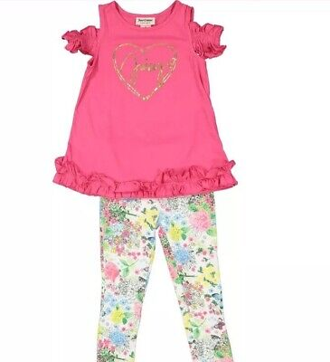 JUICY COUTURE Hot Pink & Gold Foil Logo Dress & Leggings BNWT 4 Years