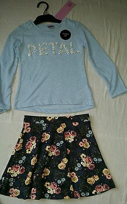BNWT Girls 2 Piece Winter Long Sleeve Top & Skirt Set, 11-12yrs