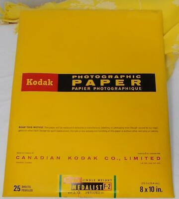 NOS KODAK Sealed PHOTOGRAPHIC PAPER 25 Sheets 8x10 MEDALIST F-2 Warm Black