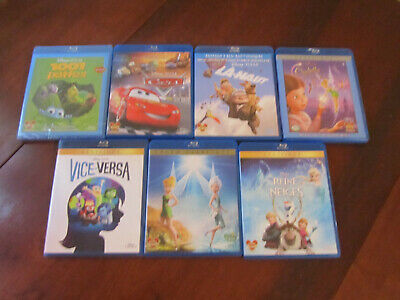 Lot de 3 films DISNEY en Blu-Ray : LA-HAUT, LA REINE DES NEIGES et VICE-VERSA