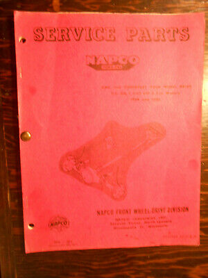 1956 1957 1958 1959 NAPCO Service Parts Manual Chevrolet or GMC
