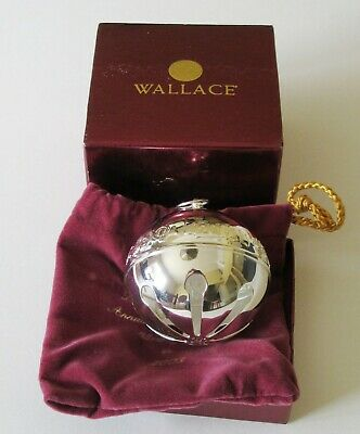 Wallace Silver Plate 2003 Sleigh Bell Christmas Ornament 33rd Limited Ed & Box