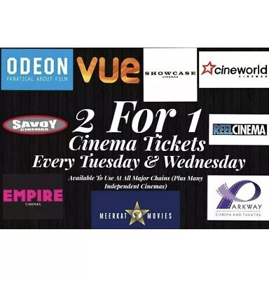 2 for 1 Cinema Ticket Code - Meerkat Movies - Instant Delivery- 6th & 7th August