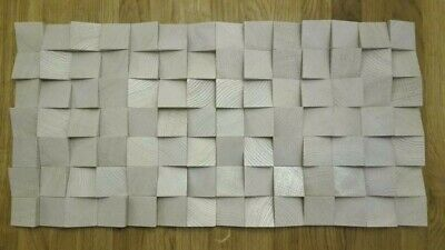 3X NEW 3D WHITE SOLID OAK WOOD Diffuser acoustic wall decoration panel home