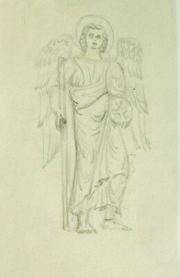PHILIP DOUGLAS MACLAGAN (1901-1972) pencil classical medieval angel archangel